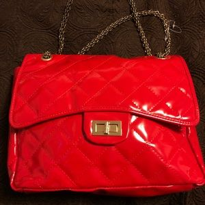 Big Buddha Red Quilted Handbag (New)